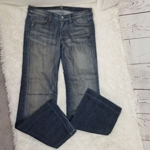 7FAM Dojo Flare Jeans Medium Wash 28 Womans